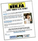 Voiceover Ninja HTML Email